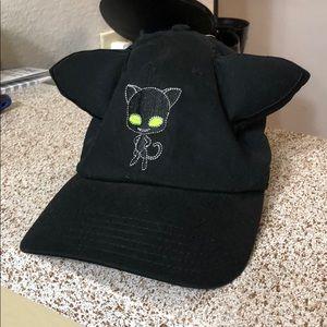 Black cat hat baseball anime miraculous zag cap